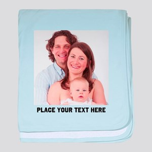 Photo Text Personalized baby blanket