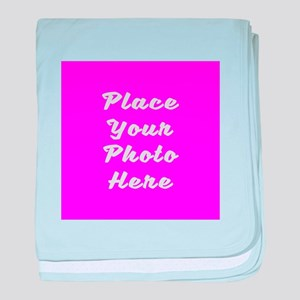 Photo template customized baby blanket