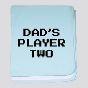 Dad's Player Two baby blanket
