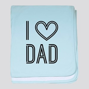 Love Dad baby blanket