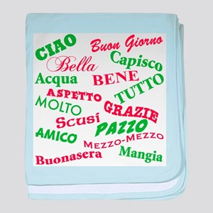 Italian Sayings Infant Blanket