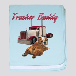 Trucker Buddy baby blanket