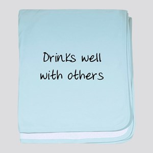 Drinks Well baby blanket