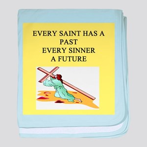 christian t-shirts gifts Infant Blanket