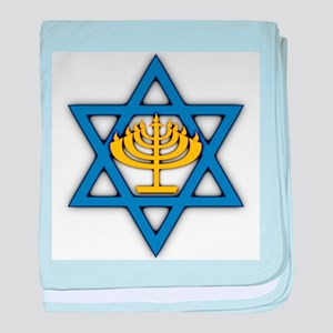 Star of David with Menorah Infant Blanket