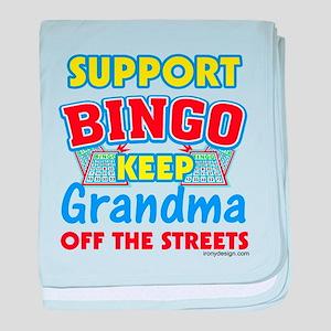 Funny Bingo Quotes Baby Blankets Cafepress