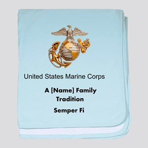 USMC Family Tradition baby blanket