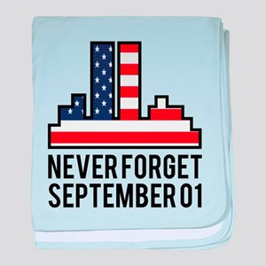 9 11 Never Forget baby blanket
