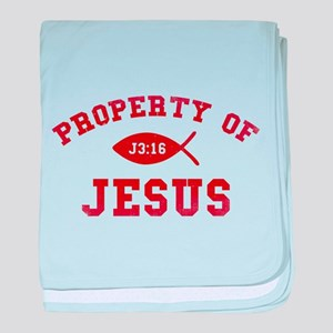 Property of Jesus baby blanket