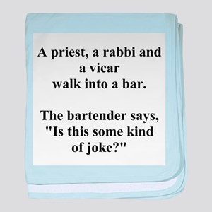 a bar joke baby blanket