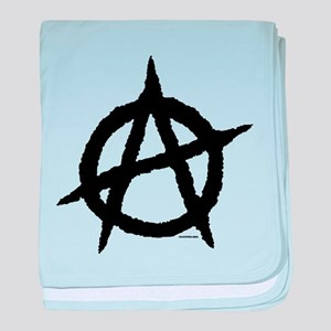 Anarchy (black) baby blanket