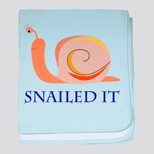 Snailed It baby blanket