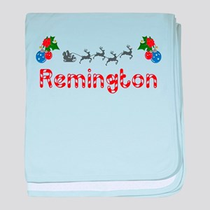 Remington, Christmas baby blanket