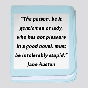 Austen - Good Novel baby blanket