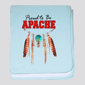 Proud to be Apache baby blanket