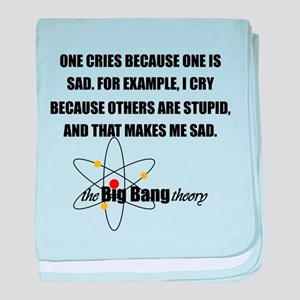 Sheldon Crying Quote baby blanket