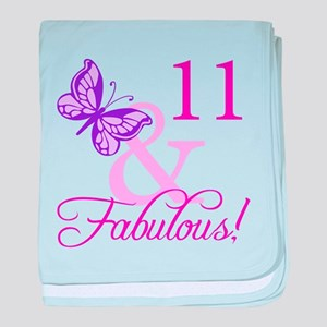 Fabulous 11th Birthday For Girls baby blanket