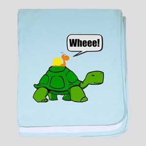 Snail Turtle Ride baby blanket