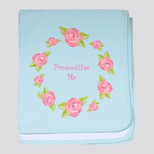 Personalized Rosette baby blanket