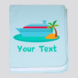 Personalized Cruise Ship baby blanket