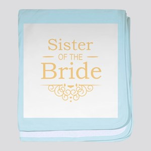Sister of the Bride Gold baby blanket
