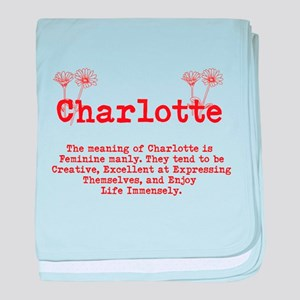 The Meaning of Charlotte baby blanket