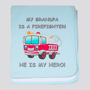 MY GRANDPA IS A FIREFIGHTER baby blanket