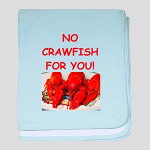 crawfish baby blanket