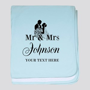 Personalized Mr and Mrs baby blanket