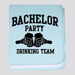 Bachelor Party Drinking Team baby blanket