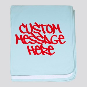 Custom Message Design baby blanket