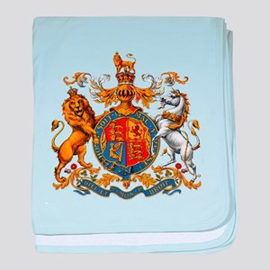 British Royal Coat of Arms baby blanket