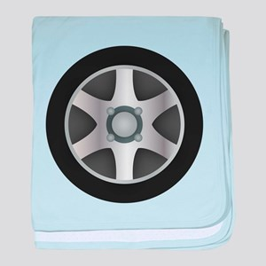 Car Tire Design baby blanket
