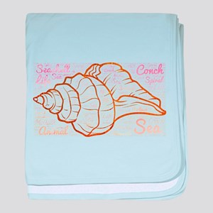 seashell conch baby blanket