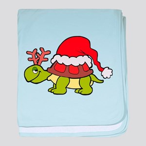 Turtle Christmas baby blanket
