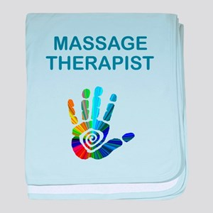 MASSAGE THERAPIST w HAND baby blanket