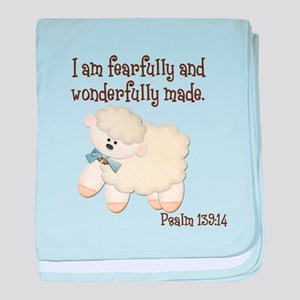 Wonderfully Made Sheep baby blanket
