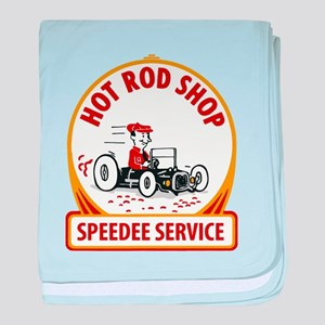 Hot Rod Shop baby blanket