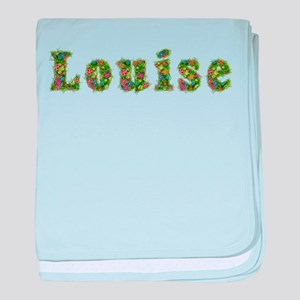 Louise Floral baby blanket