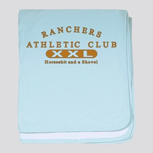 Ranchers Athletic Club baby blanket