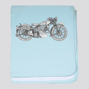 1935 Motorcycle baby blanket