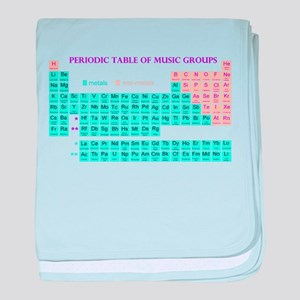 Periodic Table of Music Groups baby blanket