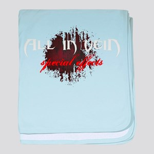 All in Vein Special Effects Logo baby blanket