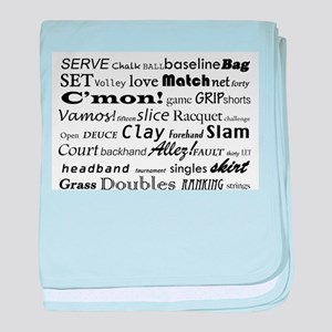 Tennis Words baby blanket