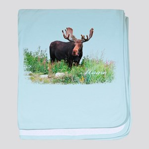 Maine Moose baby blanket