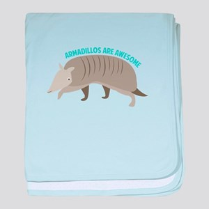 Armadillo_Armadillos_Are_Awesome baby blanket