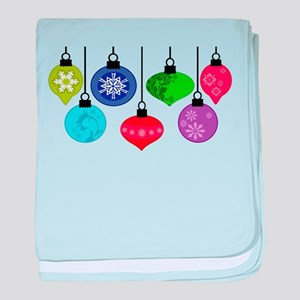 Christmas Ornaments baby blanket