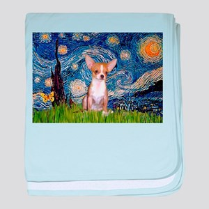 Starry Night Chihuahua baby blanket