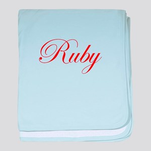 Ruby-Edw red 170 baby blanket
