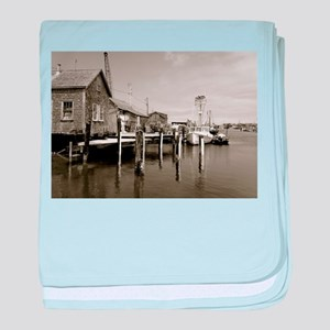 Menemsha Black & White baby blanket